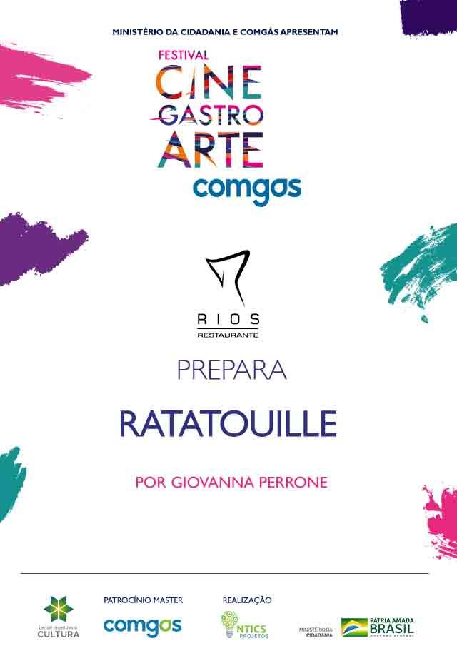 Filme: Rios Restaurante Prepara Ratatouille